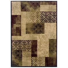 Allen Roth Area Rug 2673a1d Harrisburg Cream Rectangular Transitional