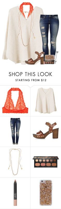 """""""i miss our goodnight love you snaps"""" by abbypj ❤ liked on Polyvore featuring Intimately Free People, MANGO, Mavi, River Island, Chan Luu, Bare Escentuals, NARS Cosmetics and Case-Mate"""