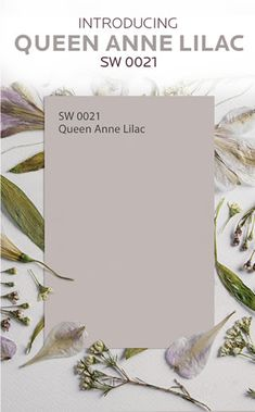Queen Anne Lilac paint color SW 0021 by Sherwin-Williams. View interior and exterior paint colors and color palettes. Get design inspiration for painting projects. Bedroom Paint Colors, Interior Paint Colors, Paint Colors For Home, Room Colors, Wall Colors, House Colors, Foyer Colors, Purple Paint Colors, Lilac Painting