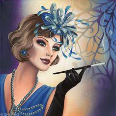 Image 3D Femme - Femme charleston - 40 x 40 cm - Photo n°1