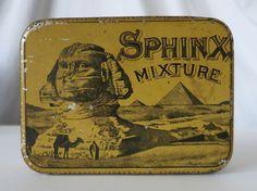 SPHINX MIXTURE VINTAGE TIN, THE UNITED STATES TOBACCO CO, RICHMOND, VIRGINIA