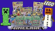 NEW LEGO Series 12 Minifigures   Minecraft Grass Series 1 Unboxing!!
