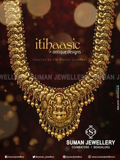 Exclusive itihassic jewellery collection inspired by Divine Grandeur from Suman Jewelry.   #suman_jewellery #itihassic #temple #collection #design #goddess