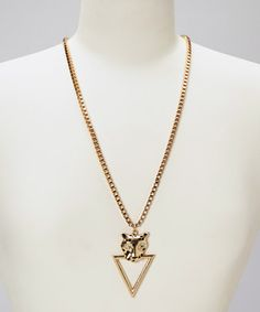Take a look at this Gold Santigold Pendant Necklace by OK1984 on #zulily today! $15 !!