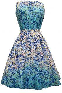 Floral Cascade Tea Dress
