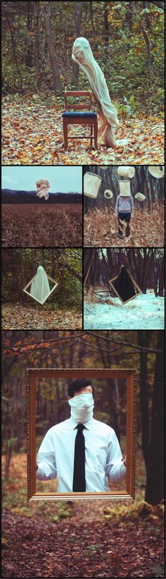 Surreal Images of Faceless Men Stuck Between Two Worlds by Christopher Ryan McKenney