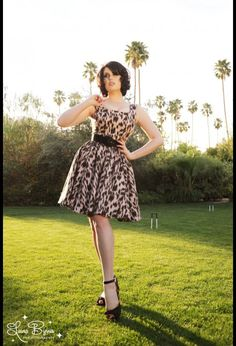 I love this...Lana Cocktail Dress in Metling Leopard Canvas | Pinup Girl Clothing