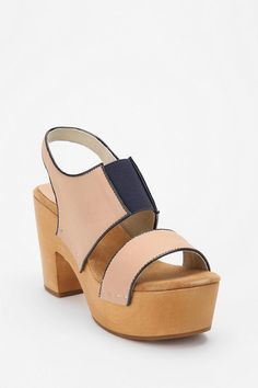 colorblocked clog shoe, urban outfitters