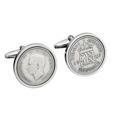 70th Birthday Gift - 1947 Old English sixpence Cufflinks - Includes presentation box - 100% satisfaction