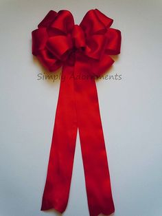 10' Red Satin Wedding Bow Christmas Bow Wedding Decoration Wreath Bow Valentine Bow > Discover this special product, click the image : Handmade Gifts
