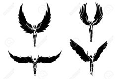 Super Ideas For Small Angel Tattoo Sketch Small Angel Tattoo, Guardian Angel Tattoo, Angel Tattoo Men, Icarus Tattoo, Silhouette Tattoos, Angel Silhouette, Tatouage Icarus, Religion, Small Tattoos