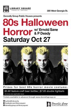 80's Halloween Horror at Library Square - Saturday, October 27th