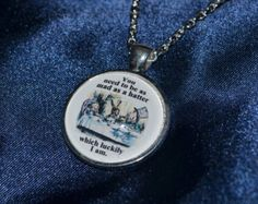 Alice in Wonderland, Mad Hatters Tea Party quote Necklace