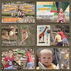 scrapbook layout Zoo