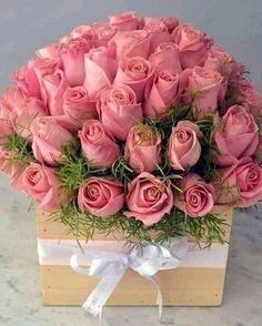 Pink Roses, Pink Flowers, Paper Flowers, Beautiful Rose Flowers, Amazing Flowers, Rose Flower Wallpaper, Happy Birthday Flower, Flower Arrangements Simple, Luxury Flowers