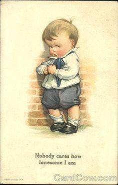 """""""Nobody care how lonesome I am"""" Charles Twelvetrees illustration Images Vintage, Vintage Pictures, Vintage Paper Dolls, Vintage Children's Books, Vintage Greeting Cards, Children's Book Illustration, Vintage Postcards, Vintage Prints, Illustrators"""
