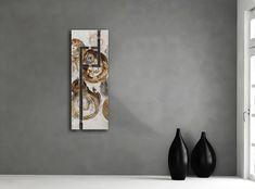 Dit prachtige abstracte werk is met de hand geschilderd op basis van olieverf. Ideaal als decoratie voor in de gang.