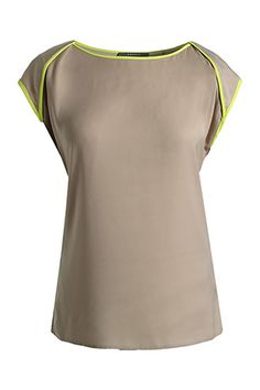chiffon bloes met accent COLLECTION - Esprit Online-Shop