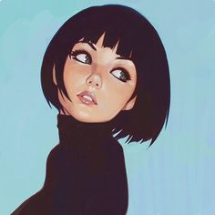 """Little study inspired by Phil Noto's works!""by Ilya Kuvshinov.More Characters here."