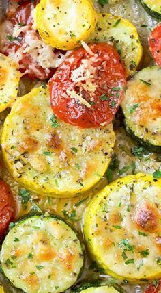 Try using ranch seasoning-Roasted Garlic-Parmesan Zucchini, Squash and Tomatoes