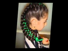 I hope my little girl (when I have one.. lol) will have hair like this.  I'm totally going to learn how to braid like this!!