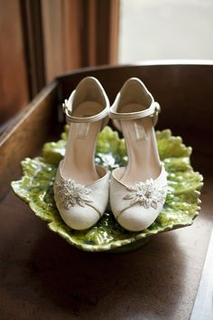 Beautiful bridal shoes captured by White Tea | onefabday.com i may be able to re create these