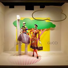 "NORDSTROM, Downtown Seattle, Washington, ""Listen Brenda... I once was kissed on the lips by a giraffe, and I don't think I've ever got over it"", for GUCCI, pinned by Ton van der Veer"