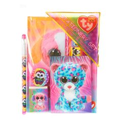 <P>This cute stationery set from TY includes 1 diary, 1 memo pad, 1 pencil sharpener, 1 pen, 1 eraser, 1 ruler and 1 re-usable carry pouch.</P><P><STRONG>Stationery Set</STRONG> by <STRONG>TY</STRONG></P><UL><LI>7 peices </LI><LI>Suitable for children aged 3+</LI></UL>