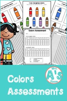 Everything you need to assess your kiddos' ability to recognize and identify colors is in this simple and easy-to-prep assessment kit! And the price is right, too! Preschool Color Activities, Preschool Ideas, Christian School, Data Sheets, Teacher Tools, Learning Colors, Preschool Kindergarten, Color Names, Pre School