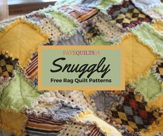 38 Snuggly Free Rag Quilt Patterns | These quit patterns may be raggedy, but they're so cuddly too!