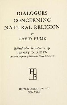 David Hume - Dialogues concerning natural religion