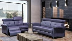 Made in Canada by Bugatti Design, this condo sofa will offer you the comfort of a reclining piece and the style of a stationary one.