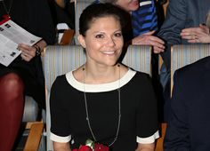 Crown Princess Victoria attended during Brain Day at the Community Hall in Stockholm on Wednesday.