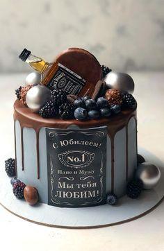 35th Birthday Cakes, Alcohol Birthday Cake, Birthday Drip Cake, Alcohol Cake, Birthday Cake For Him, Beautiful Birthday Cakes, Chocolate Birthday Cake Decoration, Birthday Cake Decorating, Festa Jack Daniels