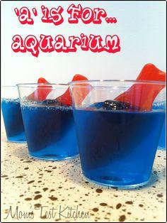blue jello with gummy fish - Google Search