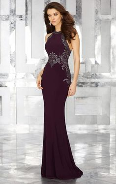 53c4f473f8b6 Embellished Haltered Jersey Gown by MGNY by Mori Lee. Mothers DressesMother  Of The Bride ...