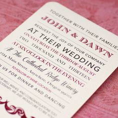 Custom Elegant Wedding Invitations