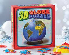3D Globe Puzzle £15 Watch the world take shape as you assemble 60 puzzle pieces to make a real 3-dimensional globe. Made of tough plastic for strength and assembles to 12cm diameter. Age 7+. COLLECTION/DELIVERY FROM ABERDEEN OR DIRECT DISPATCH VIA PAYPAL/CARD PAYMENT (£3.95 delivery) PM/COMMENT FOR DETAILS.