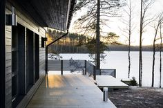 Harmaja Cozy Cottage, Cottage Homes, Weekend House, Property Design, Koti, Swedish House, Waterfront Property, Saunas, Industrial House