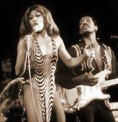 Profile: Tina Turner: Tina with Ike Turner on stage in the early Seventies