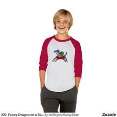 Funny Dragon on a Roller Coaster Tee Shirts #dragons #rollercoasters #shirts #funny And www.zazzle.com/tickleyourfunnybone*