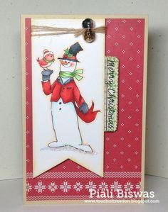 Joyful Christmas Set (Sku#4314) Art Impressions snowman card.
