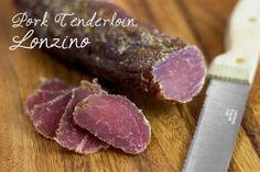 Home-cured pork tenderloin. Super-easy and amazingly delicious appetizer!