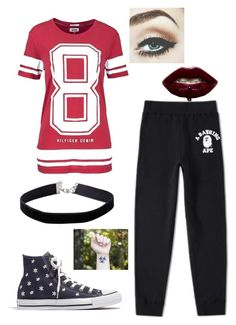 """Untitled #575"" by angelofadorability on Polyvore featuring Hilfiger Denim, A BATHING APE, Madewell and Miss Selfridge"