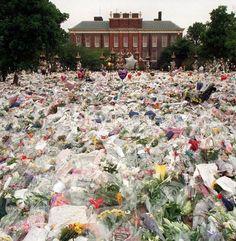 Photos of Princess Diana's funeral | Princess Diana funeral flowers.