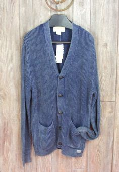Nice Ralph Lauren Denim Supply L size New Cardigan Sweater Denim Blue Mens Cotton  $145.00