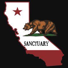 California Sanctuary State Political T-Shirt
