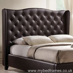 the romana is the perfect bedroom centre piece this stunning classic looking bed frame - Leather Bed Frame