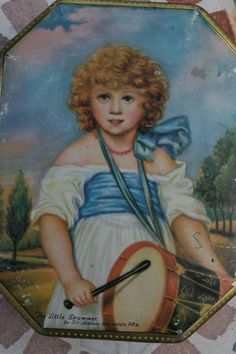 George W Horner 'Dainty Dinah' toffee tin with delightful portrait of 'The Little Drummer' by Tinternet on Etsy