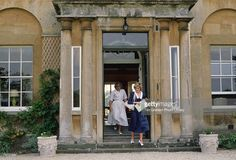Diana, Princess of Wales with Anne Beckwith-Smith, her Lady-in-Waiting and Private Secretary at Highgrove